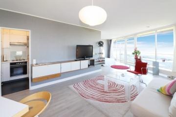 Stilvolles Wohnen mit Panoramablick über den Rhein!, 40474 Düsseldorf, Etagenwohnung