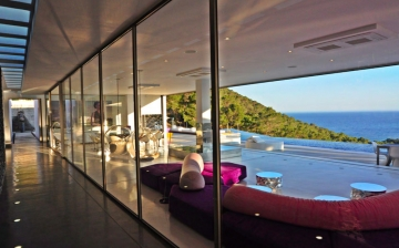 Luxury Villa on a mountain behind the bay of Sa Caleta & Cala Yondal,  ibiza, Villa