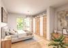 Erstbezug! Exklusive 3-Zimmer-Wohnung mit Sonnen-Loggia! - Schlafbereich