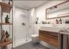 Erstbezug! Exklusive 3-Zimmer-Wohnung mit Sonnen-Loggia! - Badezimmer
