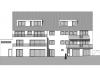 Erstbezug! Exklusive 3-Zimmer-Wohnung mit Sonnen-Loggia! - Rückansicht